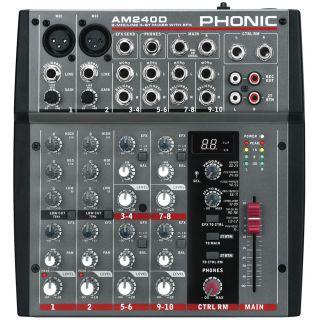1-PHONIC AM240D + MICROFONO