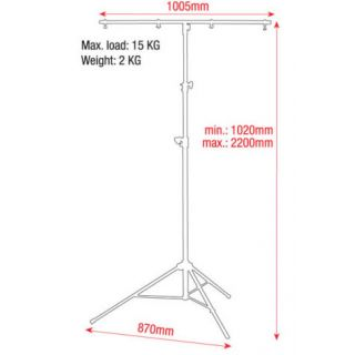 1-SHOWTEC METAL STAND BLACK