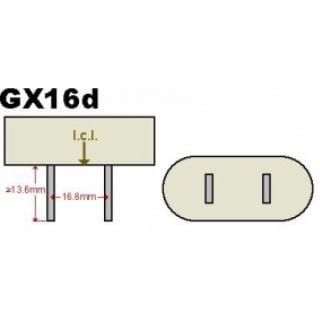 1-PROEL PAR64 500W GX 16D -