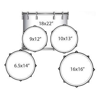 1-LUDWIG LCE522RX3 White El