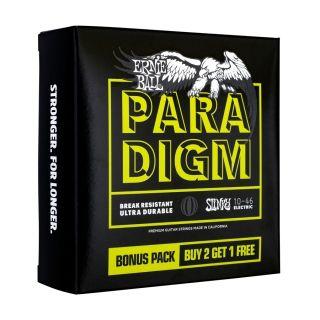 1 Ernie Ball - 3371 Paradigm Regular Slinky 10-46 Gauge 3 Pack