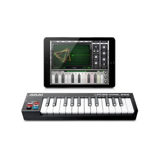 7AKAI LPK25 WIRELESS - Mini Tastiera Midi a 2 Ottave Bluetooth e USB