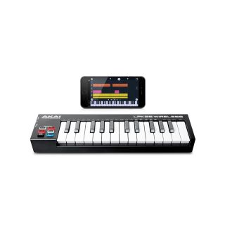 5AKAI LPK25 WIRELESS - Mini Tastiera Midi a 2 Ottave Bluetooth e USB