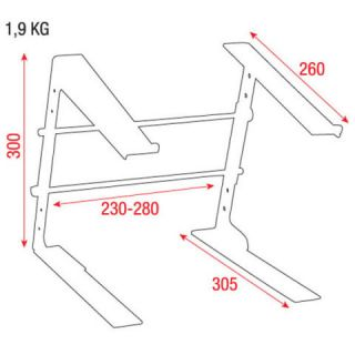 2-DAP AUDIO LAPTOP STAND -