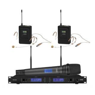 IMG Sistema Microfonico Wireless Professionale 1000 Canali / 2 Headset / 1 Palmare