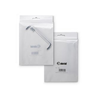5 Adam Hall Hardware 3453 - Chrome Steel Handle, 136 mm + 2 Screws M4 x 16 mm