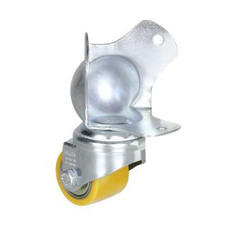 1 Adam Hall Hardware 37441 - Ruota con montaggio angolare 35 mm su angolo a sfera
