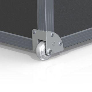2 Adam Hall Hardware 37600 S - Ruota a incasso invisibile angolare con ruota di 48 mm in alloggiamento pressofuso di alluminio