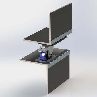 1 Adam Hall Hardware 38081 - Piatto di montaggio impilabile a gomito in acciaio zincato