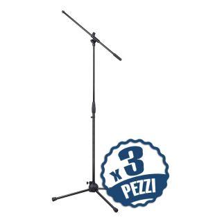 MS2005 Set di 3 Aste Microfoniche a Giraffa Regolabili
