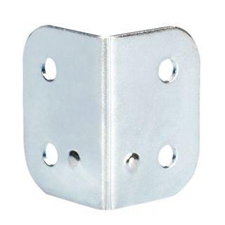 0 Adam Hall Hardware 4043 - Angolo a L 40 x 28 zincato con Calotta