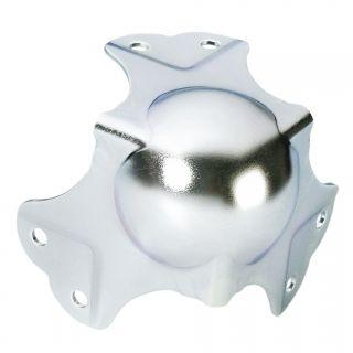 0 Adam Hall Hardware 41046 - Angolo Sferico grande a tre Fianchi sagomato 35 mm 6 Fori