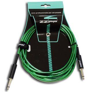 ZZIPP Cavo per Strumenti Jack/Jack 3m / verde trasparente