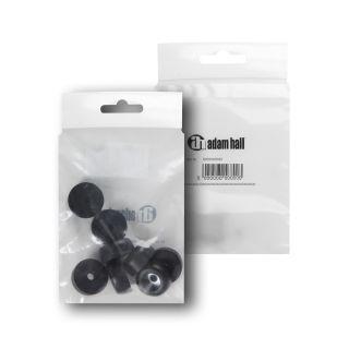 1 Adam Hall Hardware 4900 M8 AH - Bustina con set di 8 piedi in gomma 25 x 11 mm colore nero