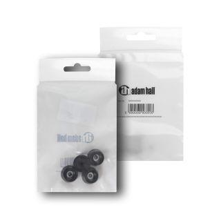 1 Adam Hall Hardware 4903 M4 AH - Bustina con set di 4 piedi in gomma 20 x 9 mm colore nero