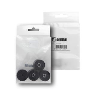 1 Adam Hall Hardware 4911 M4 AH - Bustina con set di 4 piedi in gomma 38 x 25 mm