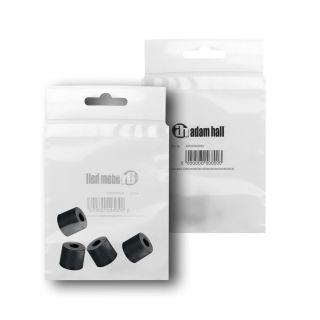 1 Adam Hall Hardware 4913 M4 AH - Bustina con set di 4 piedi in gomma 38 x 33 mm