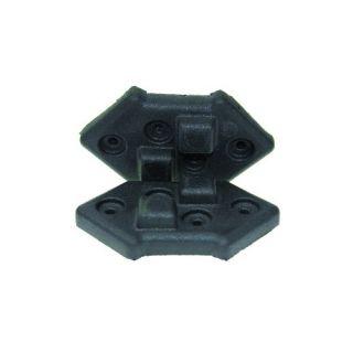 1 Adam Hall Hardware 4939 - Piede impilabile in plastica per Montaggio Angolare