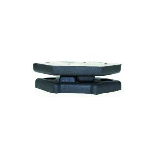 2 Adam Hall Hardware 4939 - Piede impilabile in plastica per Montaggio Angolare