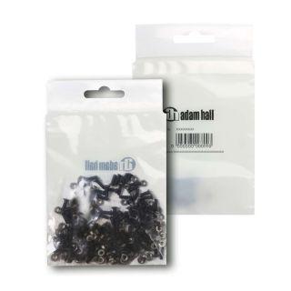 2 Adam Hall Hardware 5420 BLK M100 AH - Bustina con set di 100 viti a croce M3 x 10 nere con dado per prese XLR