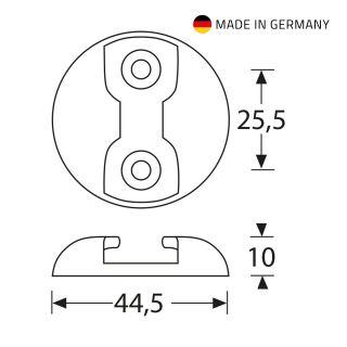 2 Adam Hall Hardware 5725 B - Rondella per fissaggio ad occhiello Punto di ancoraggio in alluminio, nero