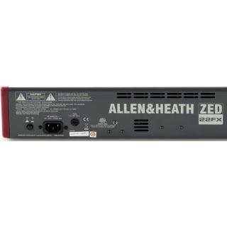 Allen & Heath ZED 22 FX - Mixer 22 Ch con Effetti07