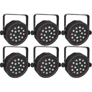 6 x Showtec Club Par 18/1 RGB - Club Par LED RGB