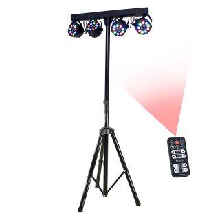 Stand per Luci con 4 PAR LED RGBW