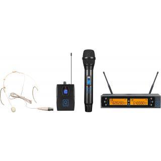 0 Oqan QWM-2 Dual Combo ( HH + Earset ) 470-494 Mhz FR Sistema wireless: microfono intercambiabile