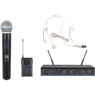 0 Oqan QWM-3 Combo (Handheld +Earset) 470-494Mhz FR Sistema wireless: microfono intercambiabile