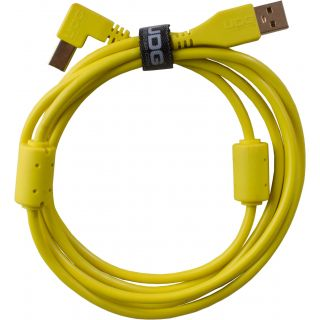 0 Udg U95004YL - ULTIMATE CAVO USB 2.0 A-B YELLOW ANGLED 1M Cavo usb