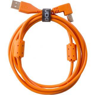 0 Udg U95005OR - ULTIMATE CAVO USB 2.0 A-B ORANGE ANGLED 2M