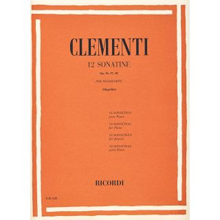 RICORDI Clementi, Muzio 12 SONATINE OP. 36, 37, 38