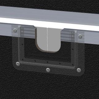 1 Adam Hall Hardware 87972 - Passaggio Cavi in Piastra di Montaggio a U