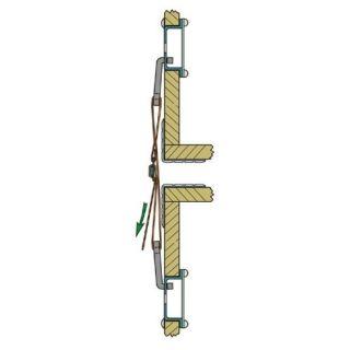 2 Adam Hall Hardware 87981 - Connettore da Pannello per Cinghia di Fissaggio 87983