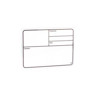 0 Adam Hall Hardware 88000 - Targhetta Scrivibile in plastica bianca autoadesiva 130 x 85mm
