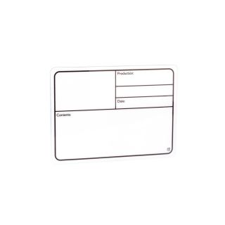0 Adam Hall Hardware 88001 - Targhetta Scrivibile in plastica bianca autoadesiva 177x127mm