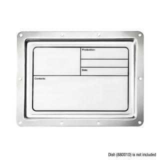 1 Adam Hall Hardware 88001 M - Targhetta di identificazione di plastica magnetica bianca 177 x 127 mm