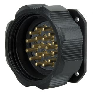 0 Showtec - Socapex 19 Pin male chassis connector - Powerdistribution