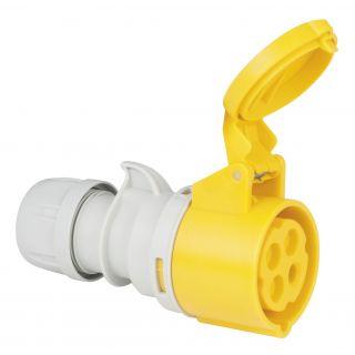 0 PCE - CEE 16A 110V 4p Plug Female - Giallo, IP44