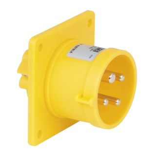 0 PCE - CEE 16A 110V 4p Socket Male - Giallo, IP44