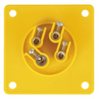 1 PCE - CEE 16A 110V 4p Socket Male - Giallo, IP44