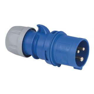 0 Showtec - CEE 16A 240V 3p Plug Male - Blu, IP44