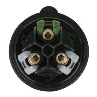 1 Showtec - CEE 16A 240V 3p Plug Male - Nero, Turbo Twist, IP44