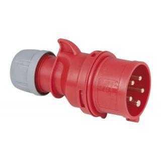 1 PCE - CEE 16A 400V 5p Plug Male - Nero, IP44