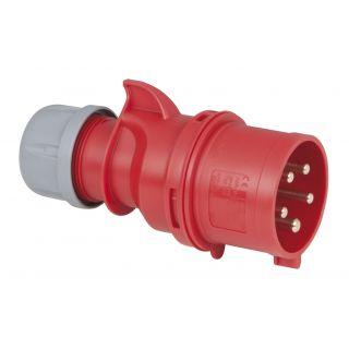 1 PCE - CEE 32A 400V 5p Plug Male - Nero, IP44