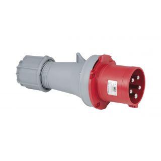 0 PCE - CEE 63A 400V 5p Plug Male - Rosso, IP44