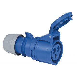 0 Showtec - CEE 16A 240V 3p Plug Female - Blu, IP44