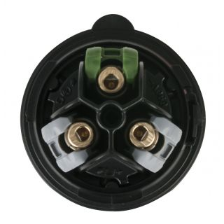 2 Showtec - CEE 16A 240V 3p Plug Female - Nero, IP44