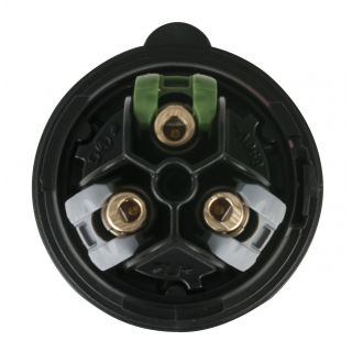 1 Showtec - CEE 16A 240V 3p Plug Female - Nero, Turbo Twist, IP44